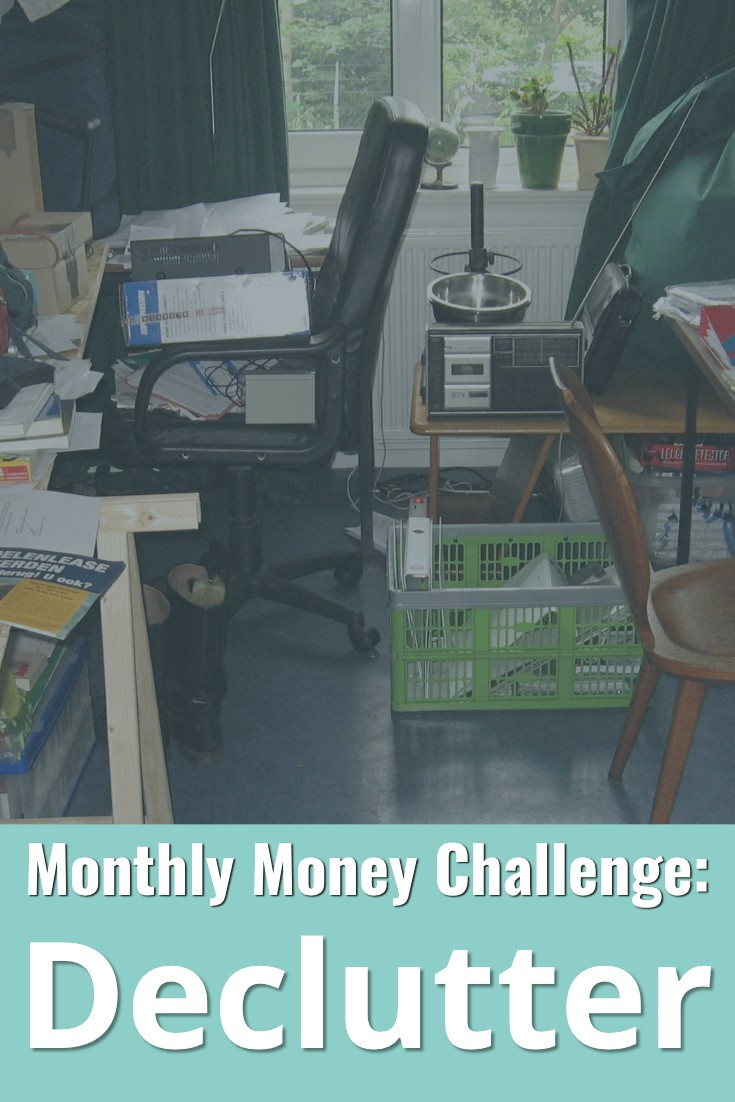 Join the challenge to declutter this month! Tidy your home by eliminating all the random stuff you've got laying around.