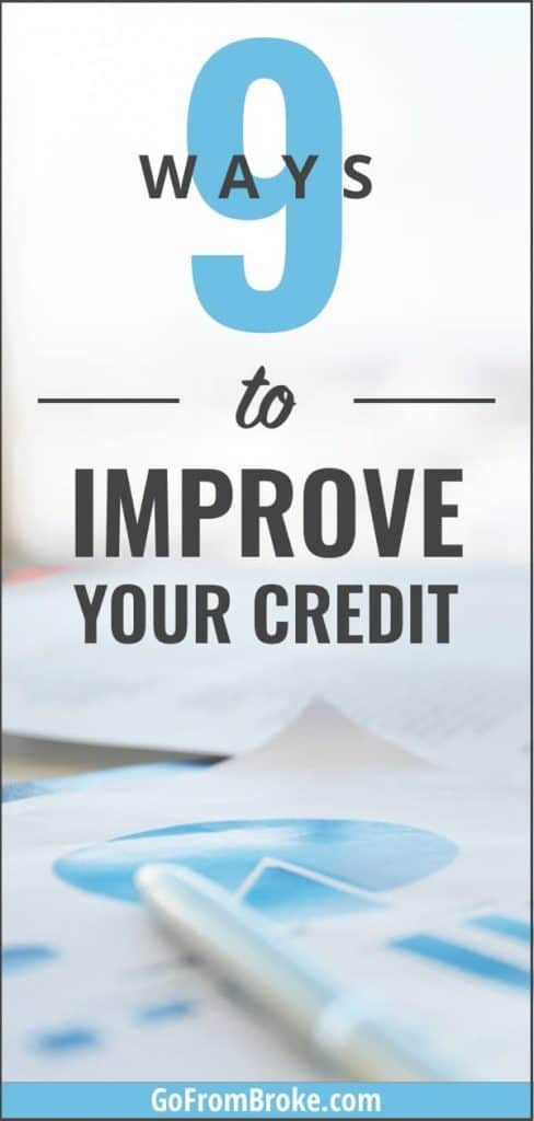 9 Ways to Improve Your Credit Pinterest Pin