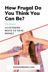 Pinterest - Extreme Frugality - Woman Cutting Her Own Hair